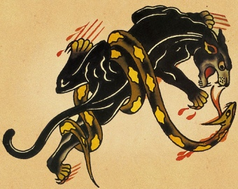 sailor jerry panther & snake