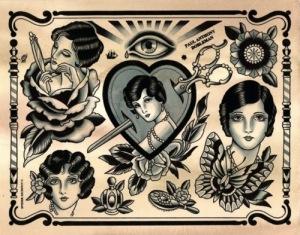 Traditional tattoo it il portale del tattoo tradizionale for Tatuaggi stile pin up